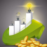 Bulb design. Royalty Free Stock Images