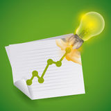 Bulb design. Royalty Free Stock Image