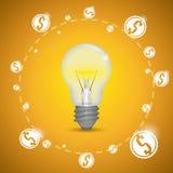 Bulb design. Stock Photos