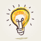 Bulb Drawing Royalty Free Stock Photo