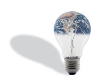 Bulb and earth Stock Photos