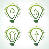 Bulb with eco concept. Vector illustration Stock Image