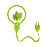 bulb with ecology symbol Stock Photo