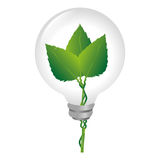 bulb with ecology symbol Royalty Free Stock Images