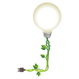 bulb with ecology symbol Stock Images