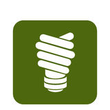 bulb with ecology symbol Royalty Free Stock Photos