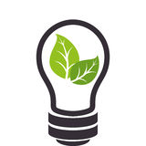bulb with ecology symbol Royalty Free Stock Photo