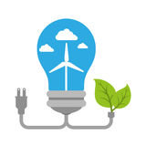 Bulb with ecology symbol Stock Photo