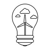 Bulb with ecology symbol Royalty Free Stock Photography
