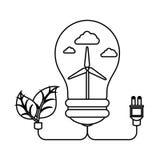 Bulb with ecology symbol Stock Photos