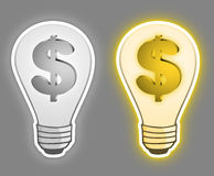 Bulb economy Royalty Free Stock Photos