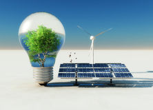 bulb and ecosystems Stock Image