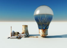 Bulb and ecosystems Stock Images