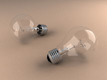 Bulb. Electric bulb, front view, created in 3d Studio Max Stock Photo