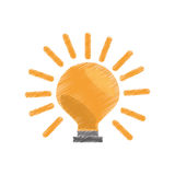 Bulb electric icon image Royalty Free Stock Photos