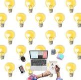 Bulb Electricity Illumination Idea Lighting Concept Royalty Free Stock Images