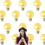 Bulb Electricity Illumination Idea Lighting Concept Royalty Free Stock Image