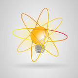Bulb energy atom Royalty Free Stock Image