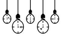 Bulb. Energy saving bulb Concept of clock Stock Photo