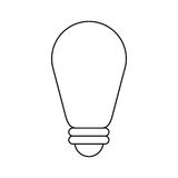 Bulb environment ecological energy thin line Stock Photography