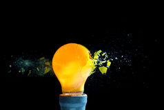 Bulb explosion Royalty Free Stock Image