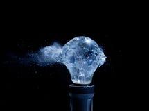 Bulb explosion Royalty Free Stock Photos