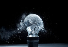 Bulb explosion Stock Image
