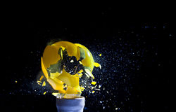 Bulb explosion Stock Images