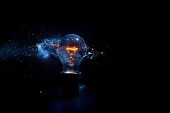 Bulb explosion Stock Photos