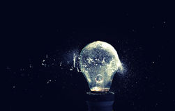 Bulb explosion Royalty Free Stock Photography