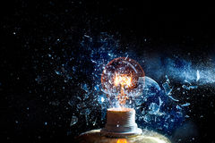 Bulb explosion Royalty Free Stock Photo