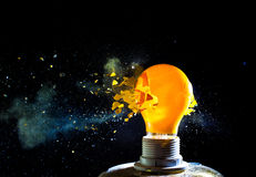 Bulb explosion Royalty Free Stock Photos