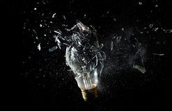 Bulb explosion. Close up image of electric bulb explosion Stock Photography