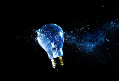Bulb explosion Royalty Free Stock Images
