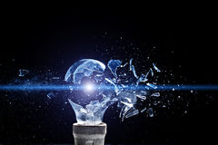 Bulb explosion Stock Image
