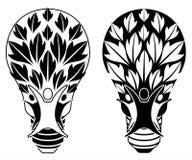 Bulb and family tree symbol stock image
