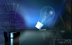 Bulb and filament Stock Image