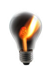 Bulb fire Royalty Free Stock Photo
