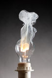 Bulb and fire Royalty Free Stock Images
