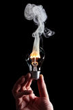 Bulb and fire Stock Photography