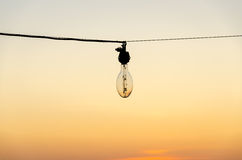 Bulb on the fishing boat Royalty Free Stock Image