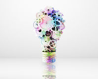 Bulb in form color gears Royalty Free Stock Photo