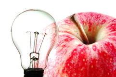 Bulb and fruit Royalty Free Stock Image