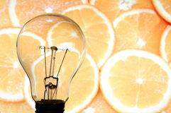 Bulb and fruit Stock Image
