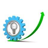 Bulb Gear Growth Royalty Free Stock Photography