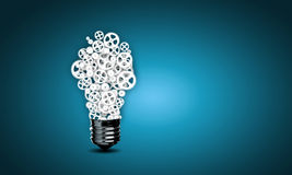 Bulb with gears Royalty Free Stock Images