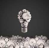 Bulb with gears Royalty Free Stock Image