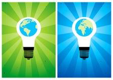 Bulb and globe Royalty Free Stock Photos