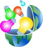 bulb globe Διανυσματική απεικόνιση