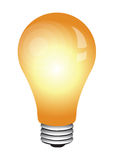 Bulb glowing. Glowing Light bulb for your idea or information related illustration and many more Royalty Free Stock Photo